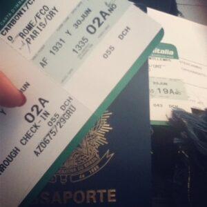 Passagem de Roma até Paris com a Air France Alitalia