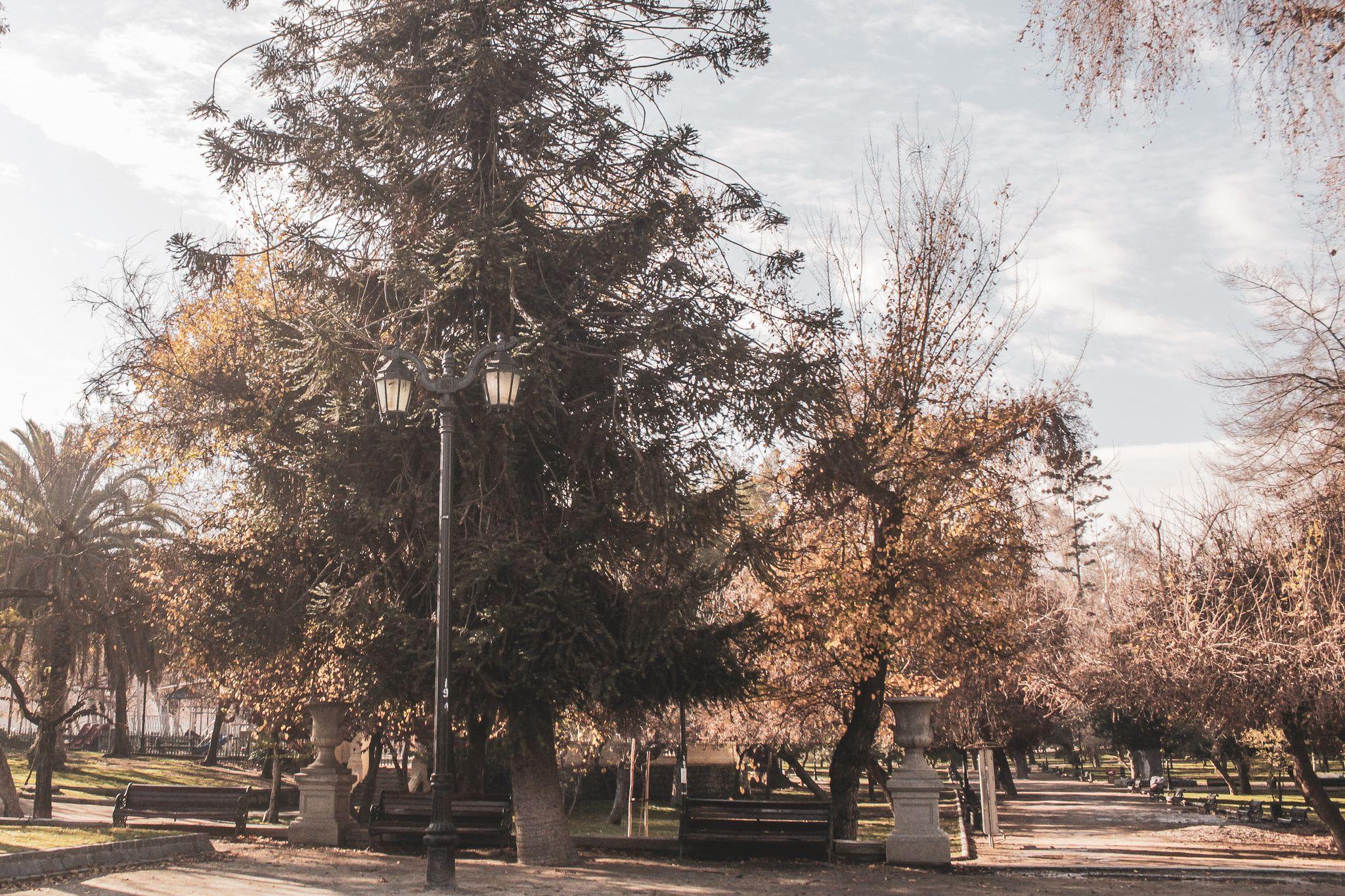 Parque Quinta normal nos arredores do Bairro Yungay em Santiago